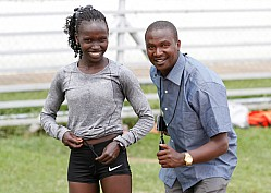 Vivian Cheruiyot training ahead of Sevens hills, holland 10km race