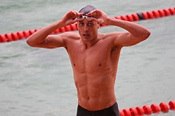 Jason Dunford trains for the Africa swimming championships